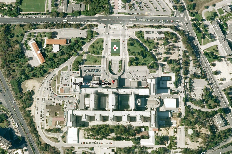 Santa Maria Hospital Lisbon - Helipad satellite- 12102015
