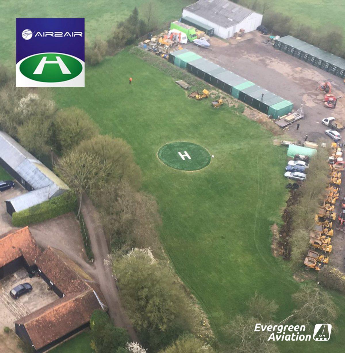 Evergreen Aviations UK AGAT Helipad partner, Air2Air 12092017