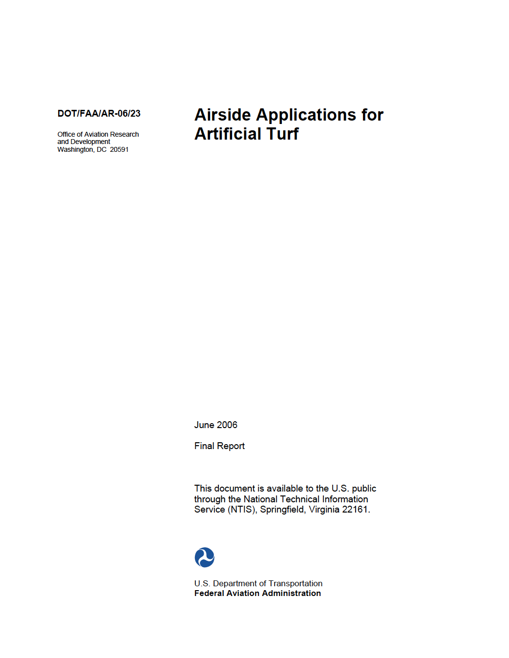 Airside Applications for Artificial Turf